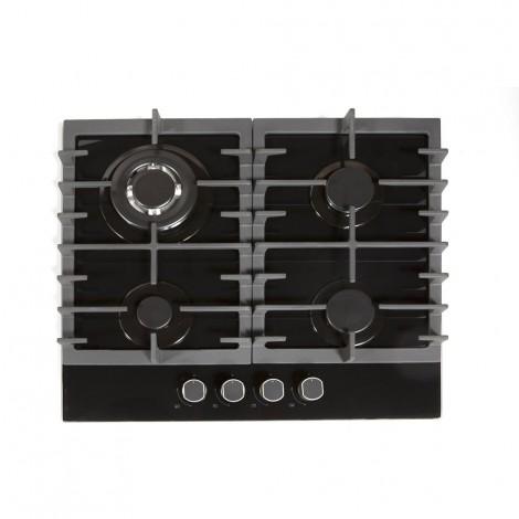 Cooktop a gás 4 queimadores cristal preto 60cm NCT 24 G5 Crissair